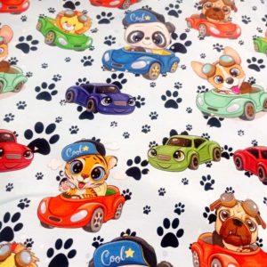 Teplákovina Zvířátka a auta