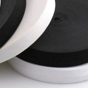 Hladká pruženka 10 mm – bílá
